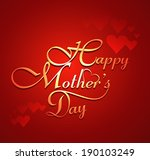 mother's day creative text... | Shutterstock .eps vector #190103249