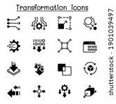 data transfer  transform  edit  ... | Shutterstock .eps vector #1901039497