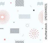 cute seamless background.... | Shutterstock .eps vector #1901044021