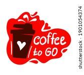 coffee cup logo. coffee mugs...   Shutterstock .eps vector #1901054374