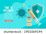 time to vaccinate banner.call... | Shutterstock .eps vector #1901069194