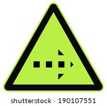 rounded triangle shape hazard... | Shutterstock .eps vector #190107551