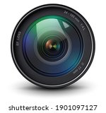 camera photo lens  front view ... | Shutterstock .eps vector #1901097127