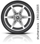 car wheel in vector  eps 10 .... | Shutterstock .eps vector #190110005