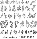 cute simple set with lives.... | Shutterstock .eps vector #1901115427