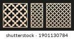 laser cut patterns set. vector... | Shutterstock .eps vector #1901130784