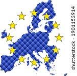 mosaic map of the european...   Shutterstock .eps vector #1901153914