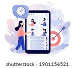 online conference concept.... | Shutterstock .eps vector #1901156521