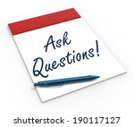 ask questions  on notebook... | Shutterstock . vector #190117127