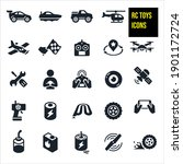 rc toys icons stock... | Shutterstock .eps vector #1901172724