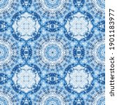 blue tile traditional seamless... | Shutterstock . vector #1901183977