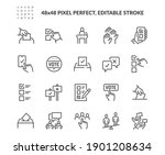 simple set of voting related... | Shutterstock .eps vector #1901208634