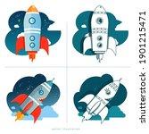 set of rocket. illustration...   Shutterstock .eps vector #1901215471