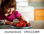 snacktime  little girl has... | Shutterstock . vector #190122389