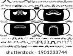 a large set of men's moustaches.... | Shutterstock .eps vector #1901233744