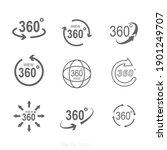 360 degrees rotating virtual... | Shutterstock .eps vector #1901249707