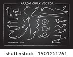 arrows and hand drawn shapes... | Shutterstock .eps vector #1901251261