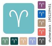 aries zodiac symbol white flat... | Shutterstock .eps vector #1901259451