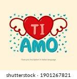 "inscription ""i love you"" in... | Shutterstock .eps vector #1901267821"