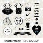 hipster style elements  icons... | Shutterstock . vector #190127069