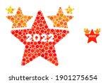 2022 star hit parade mosaic of... | Shutterstock .eps vector #1901275654