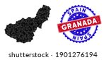 Granada Province Map Polygonal...