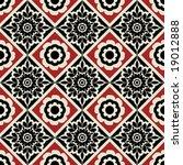 decorative floral pattern | Shutterstock .eps vector #19012888