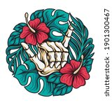 vector illustration of skeleton ... | Shutterstock .eps vector #1901300467