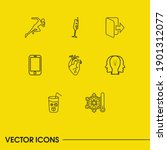 package icons set with ice ...