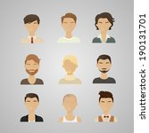 vector illustration of men's... | Shutterstock .eps vector #190131701