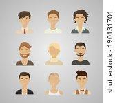vector illustration of men's...   Shutterstock .eps vector #190131701