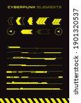 set of futuristic interface... | Shutterstock .eps vector #1901320537