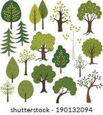 Stock vector tree clip art 190132094