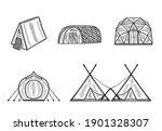 glamping accomodation doodle...   Shutterstock .eps vector #1901328307