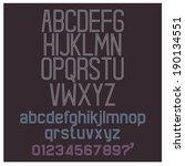 alphabet retro set | Shutterstock .eps vector #190134551