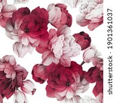 seamless floral pattern with... | Shutterstock . vector #1901361037