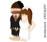 happy prehistoric engaged...   Shutterstock .eps vector #190136297