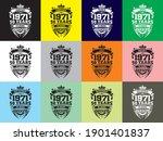 anniversary design 50 years...   Shutterstock .eps vector #1901401837