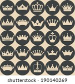 seamless crowns pattern | Shutterstock .eps vector #190140269