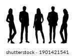 vector silhouettes of  men and... | Shutterstock .eps vector #1901421541