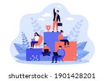 employees working and competing ... | Shutterstock .eps vector #1901428201