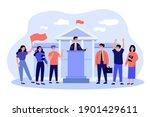 minister speaking before...   Shutterstock .eps vector #1901429611