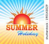abstract summery illustration... | Shutterstock . vector #190143029