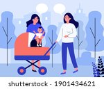 female friends walking with... | Shutterstock .eps vector #1901434621