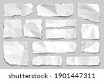 ripped paper strips on... | Shutterstock .eps vector #1901447311
