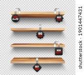 realistic vector wooden store... | Shutterstock .eps vector #1901447431