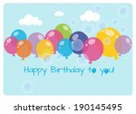 birthday greeting card ... | Shutterstock .eps vector #190145495