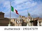 rome  italy  italian flag from...   Shutterstock . vector #190147379