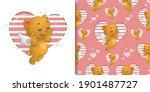 the seamless pattern of little... | Shutterstock .eps vector #1901487727