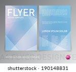 vector flyer design template.... | Shutterstock .eps vector #190148831
